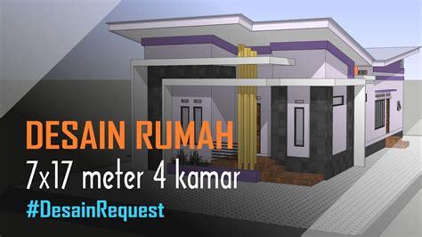 desain rumah minimalis modern  meter  kamar mushola
