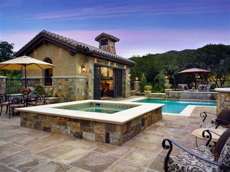 Tuscan Decorating Ideas For Patio by Colorado Tuscan Residence Amp Pool Cabana Mediterranean