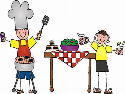Clipart Bbq Labor Summer Party Weekend Cookout