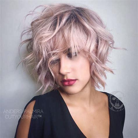 Mid Length Pixie Hairstyles by Aveda Wavy Bob Hair Wave Medium