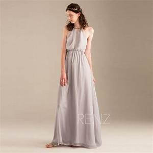 2015 light grey halter bridesmaid dress gray wedding for Gray dresses for wedding