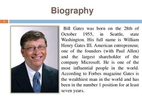 biography of bill gates resume bill gates