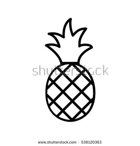 pineapple outline vector pineapple icon stock images royalty free images vectors