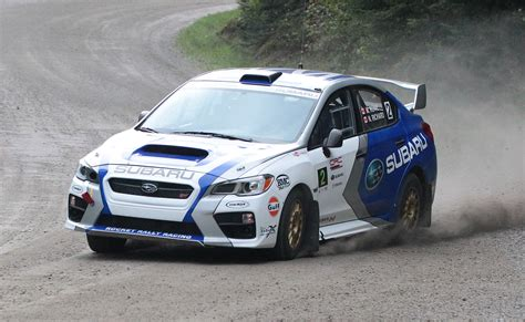 rally subaru subaru brings new car and driver scores second at rallye
