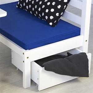 Kinderbett 90x200 Weiß : kinderbett hochbett 90x200 wei schreibtisch etagenbett sitzkissen blau ebay ~ Buech-reservation.com Haus und Dekorationen
