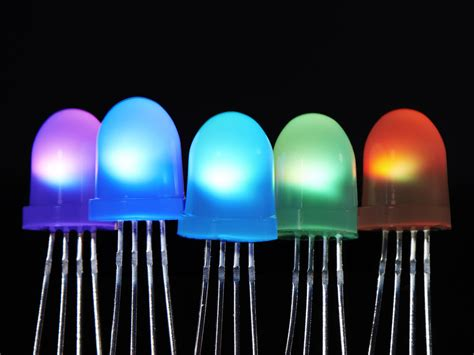 neopixel diffused 8mm through led 5 pack id 1734