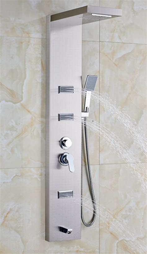 mertensia chrome finish wall mounted massage shower panel