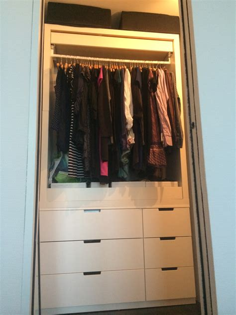 ultra simple wardrobe nordli malm ikea