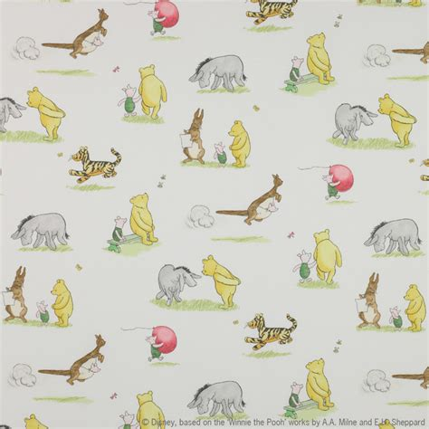 winnie the pooh and friends fabric vintage traditional