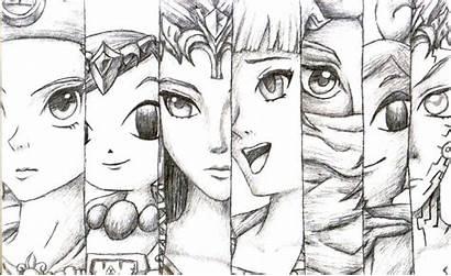 Legend Zelda Princess Awakening Deviantart Drawing Drawings