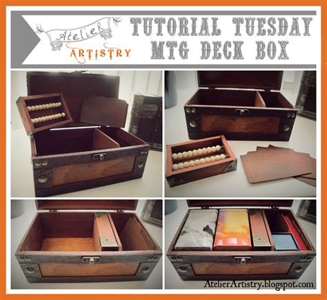 mtg wooden deck box plans atelier artistry tutorial tuesday mtg magic the