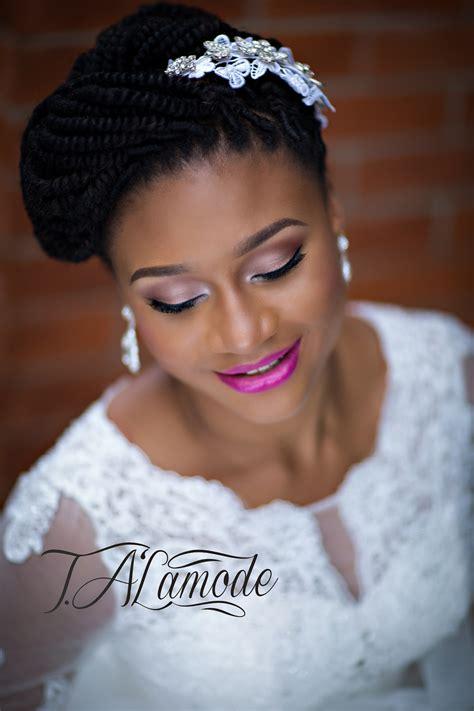 striking natural hair     bride talamode
