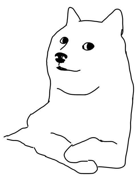 doge coloring pages
