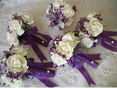 To Silk Flower Bouquet Of Silk Lilacs And Realtouch Rose Bridal How To Make Silk Flower Arrangements For Weddings Silk Flowers For Wedding Unique Fake Flower Wedding Centerpieces Jpg Make Your Own Bridal Wedding Bouquets Flowers Save Money
