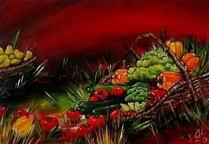 Obst Und Gemüsekorb : bild gem sekorb gem se zucchini paprika von christoph langeder bei kunstnet ~ Markanthonyermac.com Haus und Dekorationen