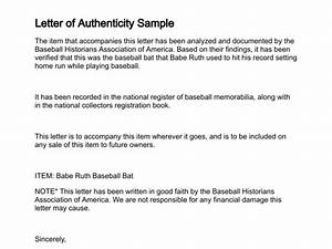 letter of authenticity With statement of authenticity template