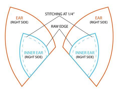 stitch ears template fox template