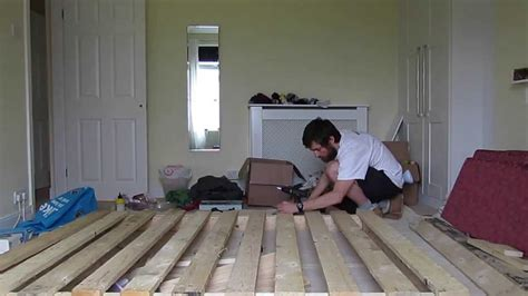 wood bed frame king pallet bed frame timelapse