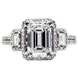 three emerald cut engagement ring most popular pins eternity jewelry - 3 Emerald Cut Engagement Ring