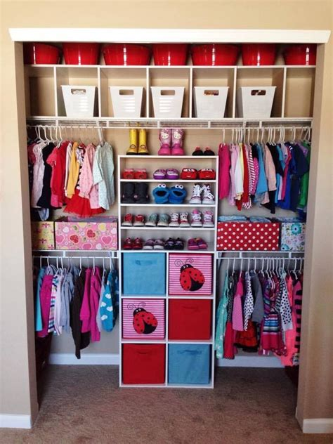 Child Closet Organization Ideas closet for two small children kid things in