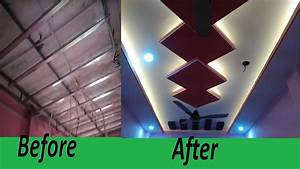False Ceiling Design Before And After For Small Space