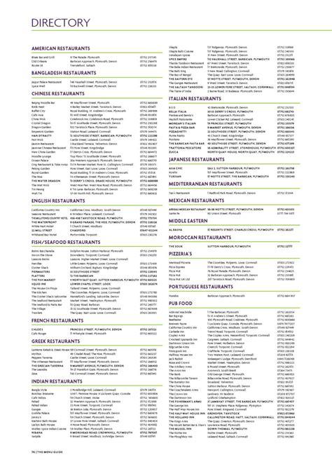 issue    menu guide issuu
