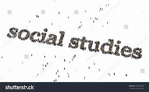 Social Studies Words. Crowd From Above. Stock Photo ...