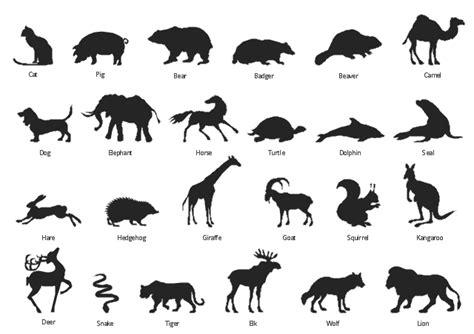 animals vector stencils library design elements