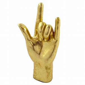 Gold 'Rock On!' Hand Audenza