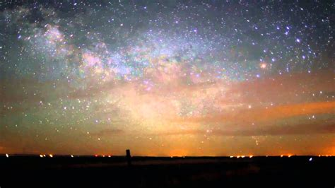 The Milky Way Galaxy Seen From Earth Time Lapse Youtube