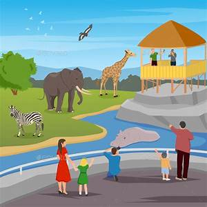 Zoo Flat Cartoon Composition by macrovector GraphicRiver