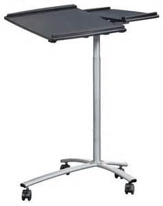 techni mobili rolling laptop stand graphite modern