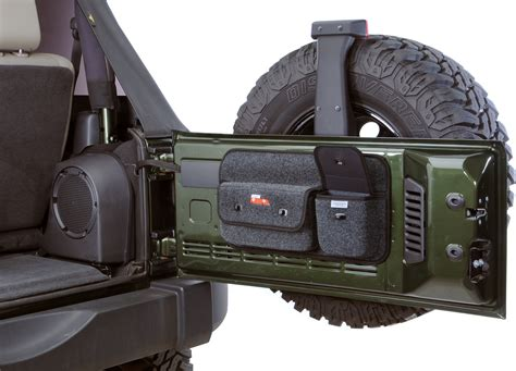jeep tailgate storage covercraft to1026ch tailgate pocket pods for 97 17 jeep