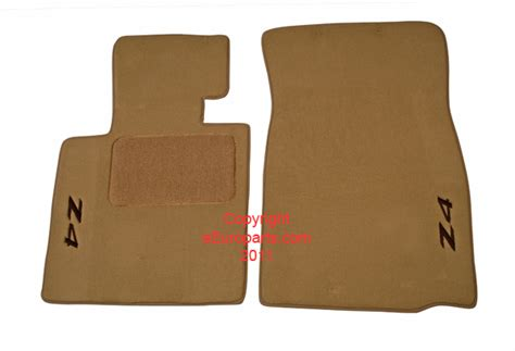 bmw floor mats z4 82110152599 genuine bmw floor mat set beige with embroidered z4 logo free shipping available