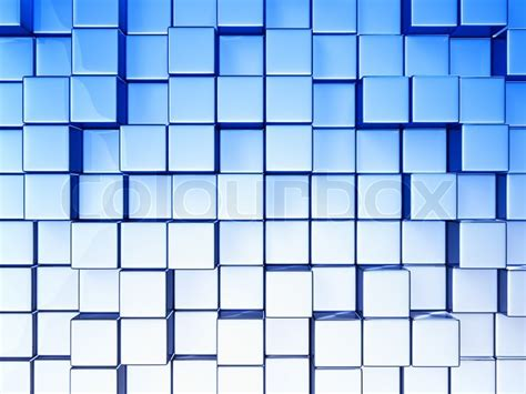 abstract cubes background  blue toned stock photo