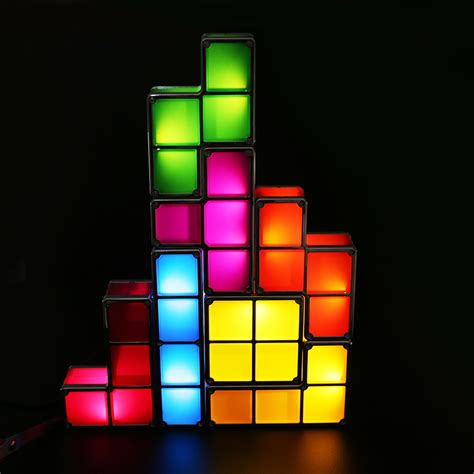 diy tetris constructible retro game stackable led desk