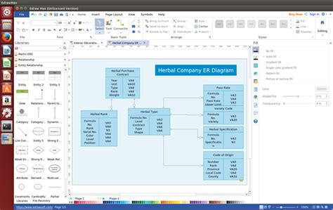 awesome linux er diagram software  abundant examples