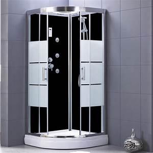 Cabine De Douche 90x120 : cabine de douche 1 4 de cercle 90x90 cm optima2 noire ~ Edinachiropracticcenter.com Idées de Décoration