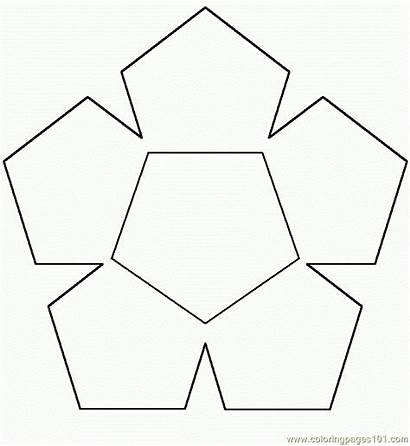 Hexagon Coloring Shape Shapes Printable Pages Coloringpages101