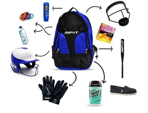 softball tournament packing checklist