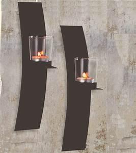 dekorative wandkerzenhalter für teelichter 2er set aus