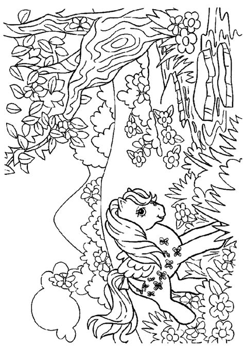 pony halloween coloring pages coloring home