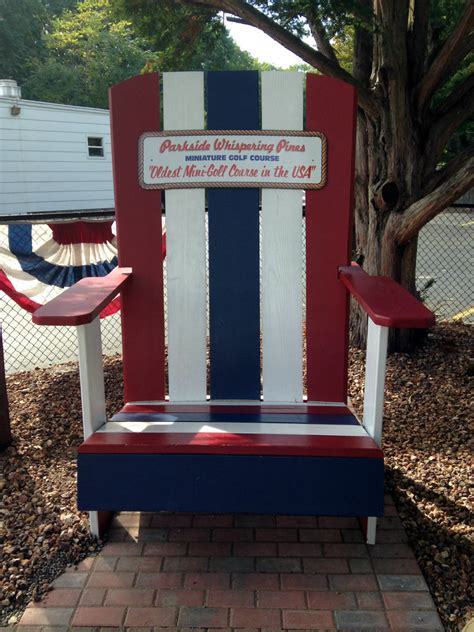 oversized adirondack chair at whispering pines mini golf