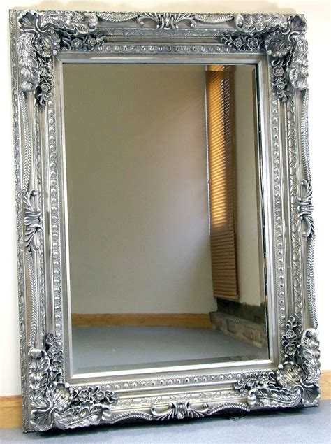 Ornate Bathroom Mirrors by Carved Louis Silver Ornate Frame Wall Mantle