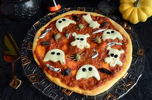 Recette Halloween Salé : recette de pizzas fant mes maison pour f ter halloween ~ Melissatoandfro.com Idées de Décoration