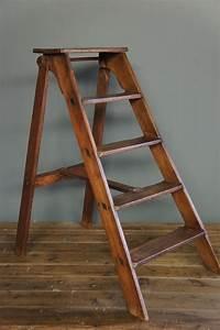 Sold, Vintage, Wooden, Step, Ladder