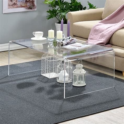 Shop Clear Acrylic Coffee Table  Free Shipping Today