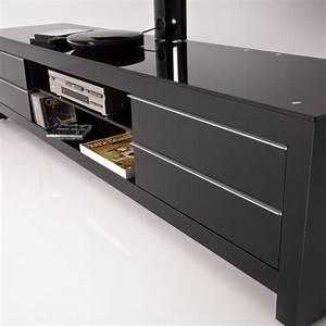 Meuble Tv 170 Cm : meuble tv design noir 170 cm prm 170h bbb exclusive ~ Teatrodelosmanantiales.com Idées de Décoration