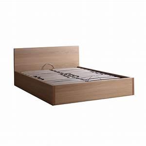 Lit Bois Massif Ikea : lit coffre avec sommier 140x190 ou 160x200 brin d 39 ouest ~ Teatrodelosmanantiales.com Idées de Décoration