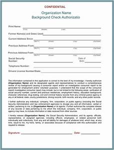 background check authorization form 5 printable samples With background check form template free